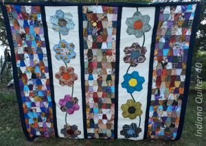 Flowers & Tumblers quilt top finished.