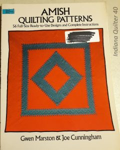 "Book titled ""Amish Quilting Patterns"""