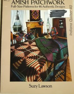"Book titled ""Amish Patchwork - Full Size Patterns for 46 Authentic Designs"""