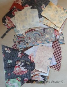 Selection of small pieces of ironed fabrics.