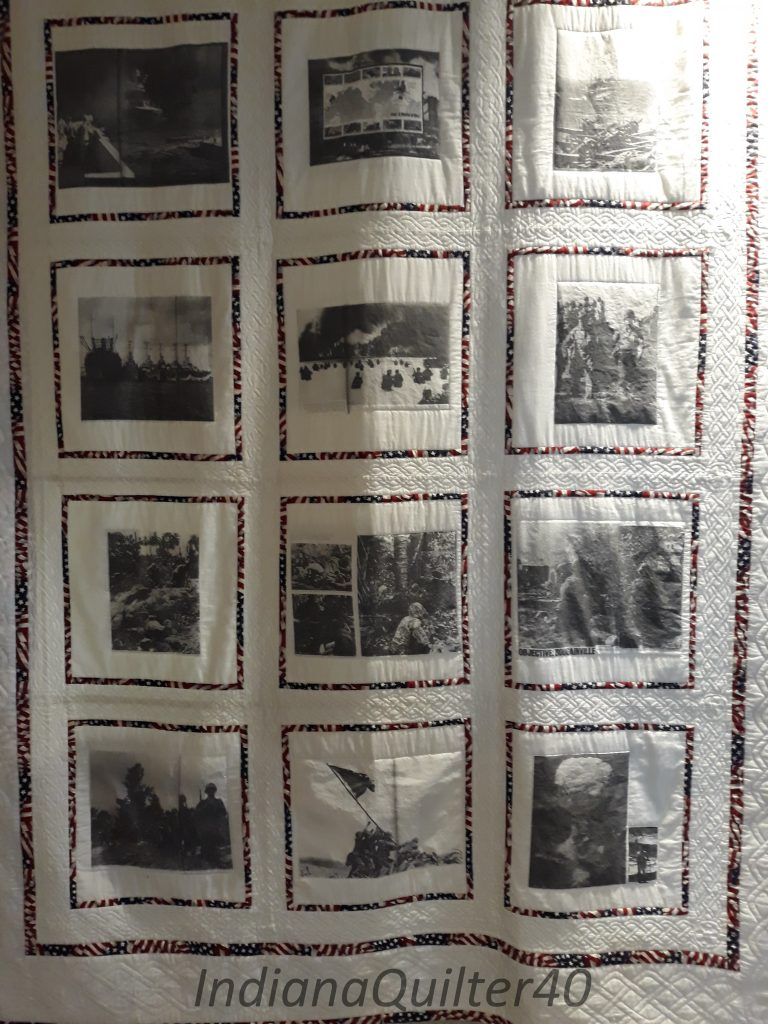 World War II photo quilt