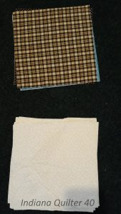 Stack of muslin square and stack of scrap squares.