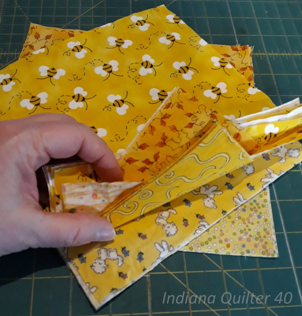 Showing off the various yellow squares, or one patch blocks