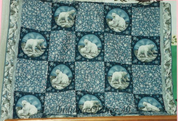 Proud Polar Bears quilt completed.