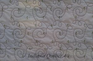 American Melting Pot - view of backing and machine quilting