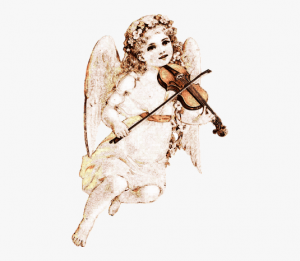 Clip art angel with violin