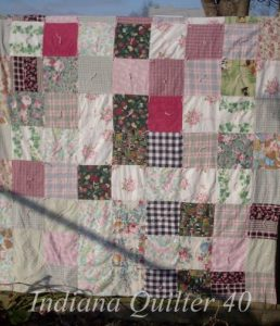 Pink Flannel One Patch Quilt