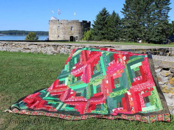 Lettuce Be Berry Christmas Quilt (another log cabin quilt)