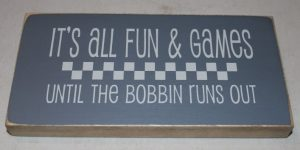 """Wood Sign """"All Fun & Games..."""""""