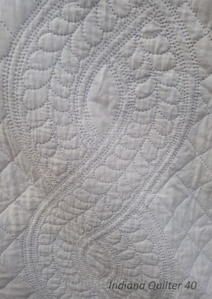 Close up of my hand quilting