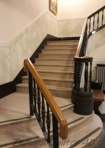 Staircase at Sullivan courthouse.
