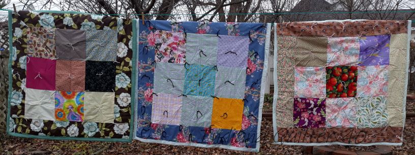 DONATED BABY QUILTS TO THE LOCAL CRISIS PREGNANCY CENTER