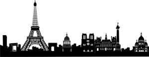 Clip art of sky line of Paris.