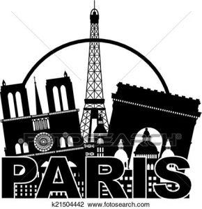 Christmas in Paris clip art