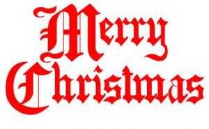 Clip art - Merry Christmas