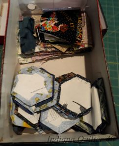 Tumblers and Hexagons are ready for sewing