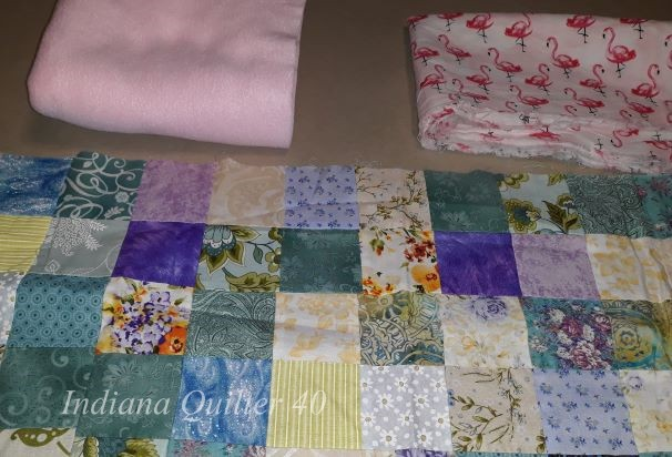 Supplies for  How To Make Two Doll Quilts In A Day (Part 1).