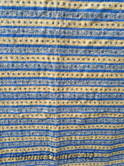 Maine Mystery Quilt 2009 - backing of blue and yellow fabric