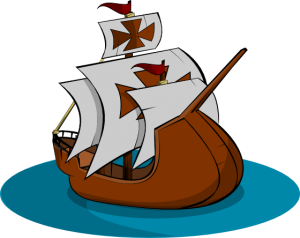 Clip art of old sailing ship