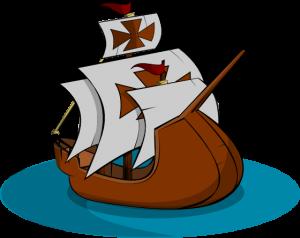 Clip art of old sailing ship