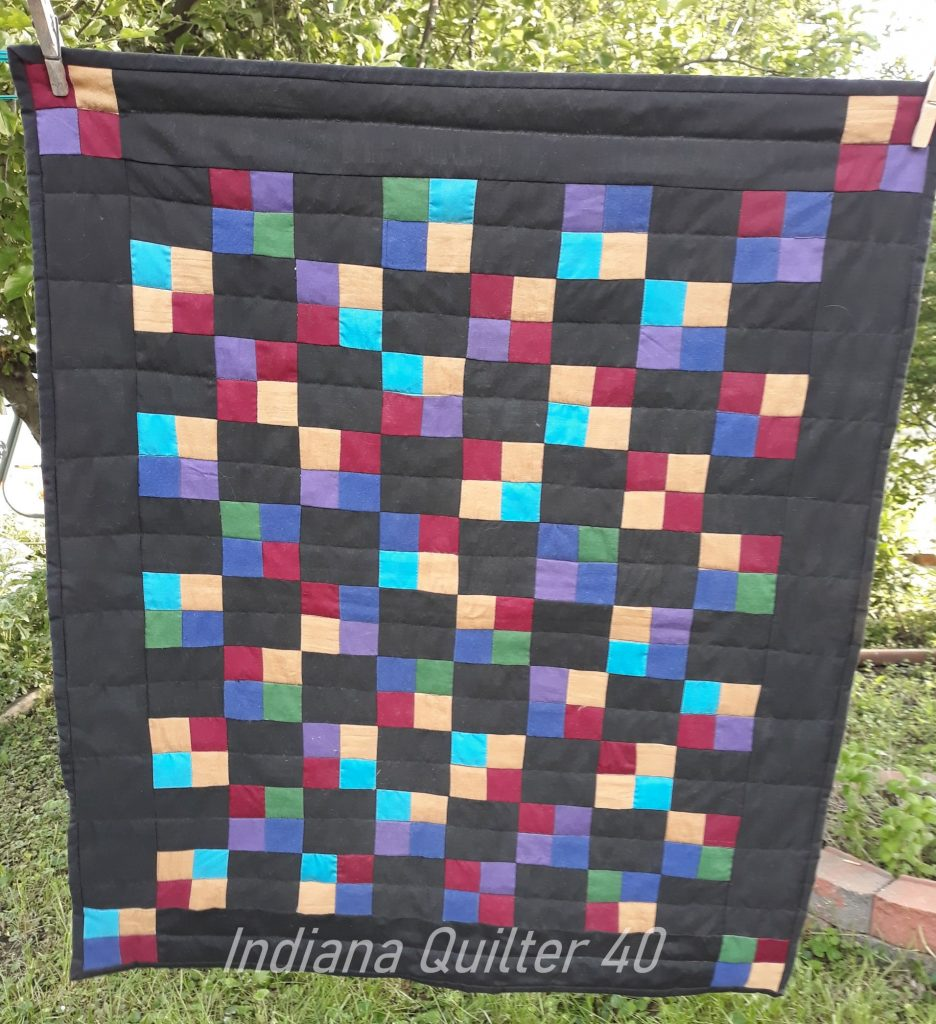 Amish 4 Patch Doll Quilt