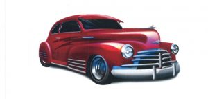 clip art - red car