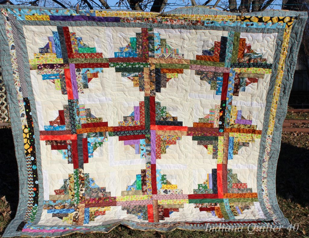 """I Spy"" Log Cabin Quilt"