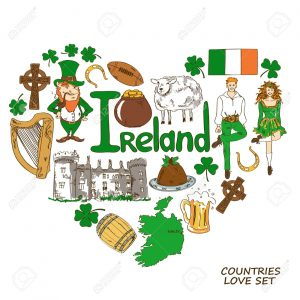 clip art of Irish symbols