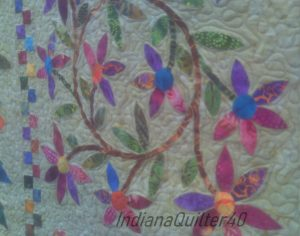 Applique flower quilt.