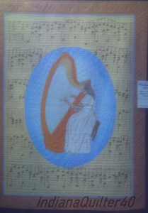 Musical notes and harp quilt