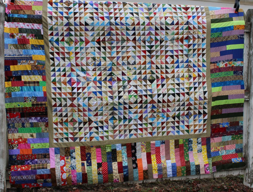 Scrap Bonanza #1 completed quilt top