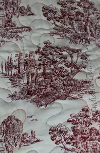 Toile backing of quilt