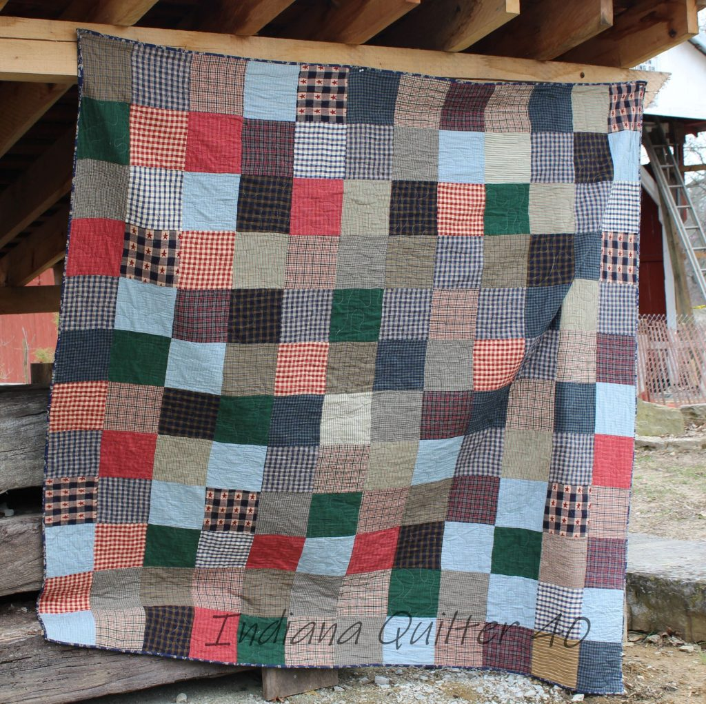 Homespun One Patch quilt