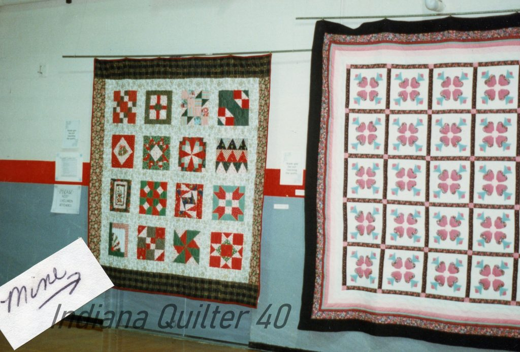 2 quilts hanging in Powell show