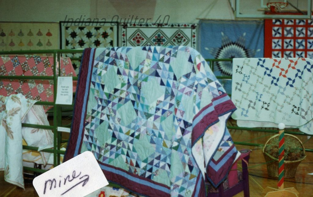 Large bed quilts at show