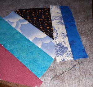 More strips sewn to crumb block.