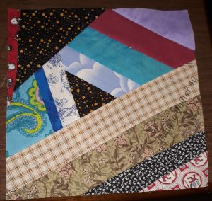 Completed crumb block for Happy Hibernation Quilt part 2.