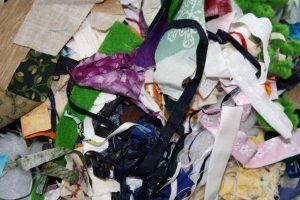 crumbs & strips of scrap fabric