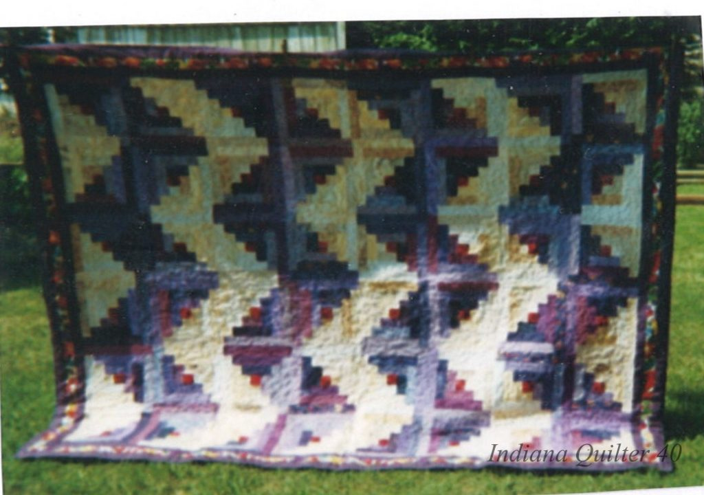Another view of the Purple without apology quilt.