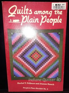 "Book titled ""Quilts Among the Plain People"""