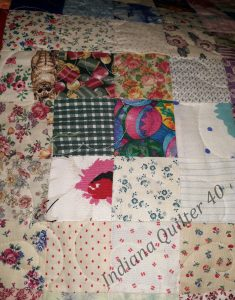 16 square blocks for charm quilt