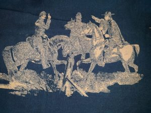 "Another section of ""Celebrating Abe"" toile"
