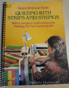 Book cover: Quilting with Strips and Strings