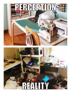 The perception and reality of a quilting room.
