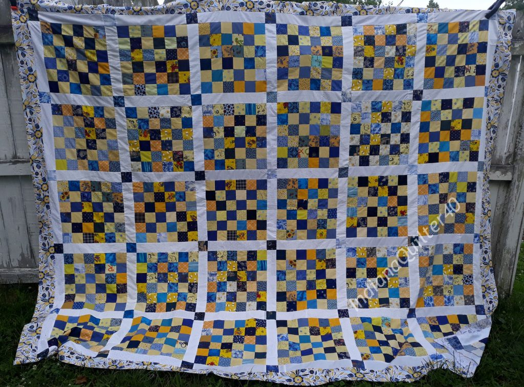LEMON DROPS AND BLUEBERRIES QUILT