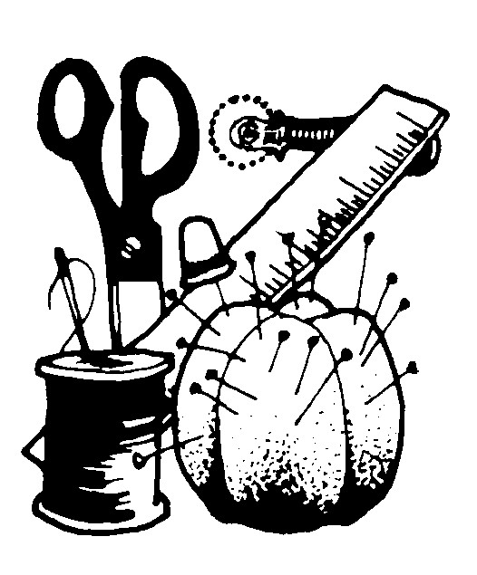 clip art - sewing supplies and tools