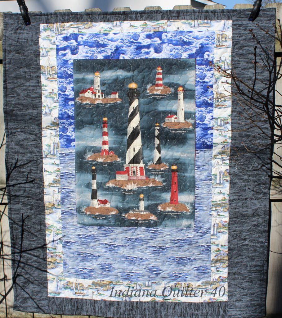 Personalized quilt - the water side of the reversible quilt.
