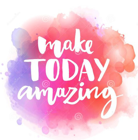 clip art - make today amazing.