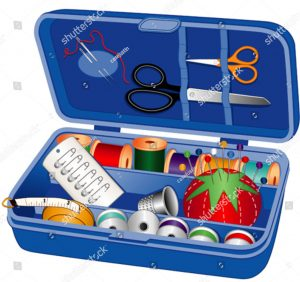 BASIC QUILTER'S TOOL BOX - sewing box for tools.