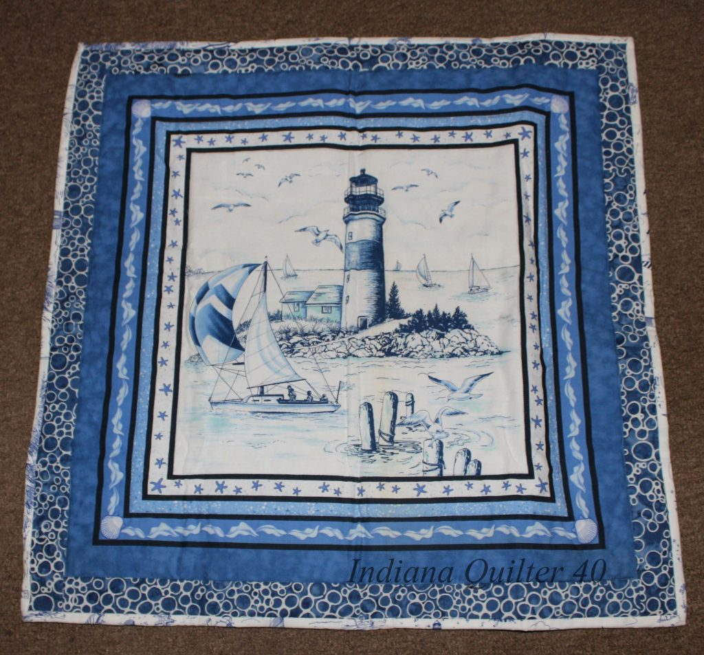 Nautical Scene wall hanging completed.